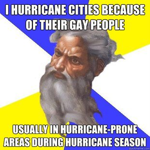 God Sends Hurricanes